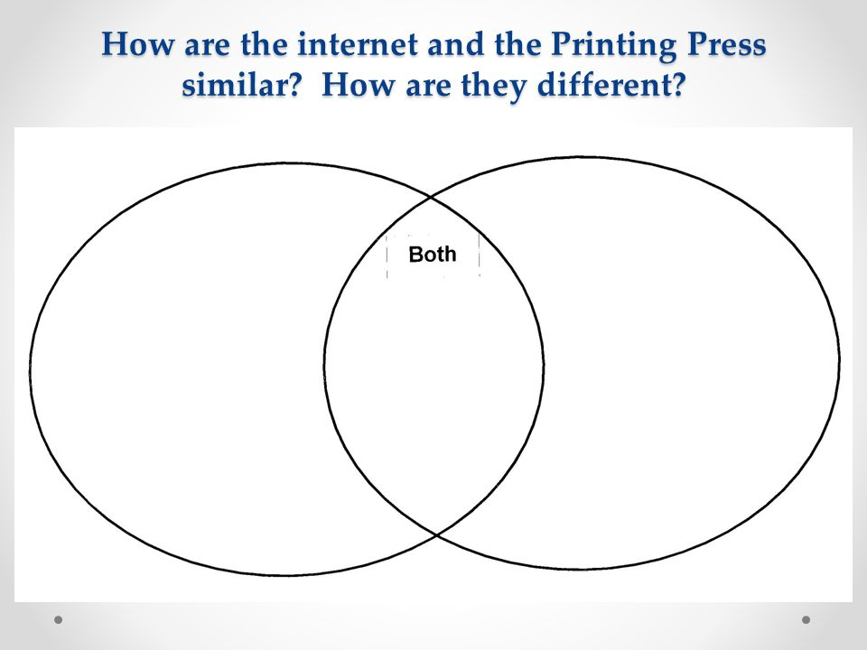 How are the internet and the Printing Press similar