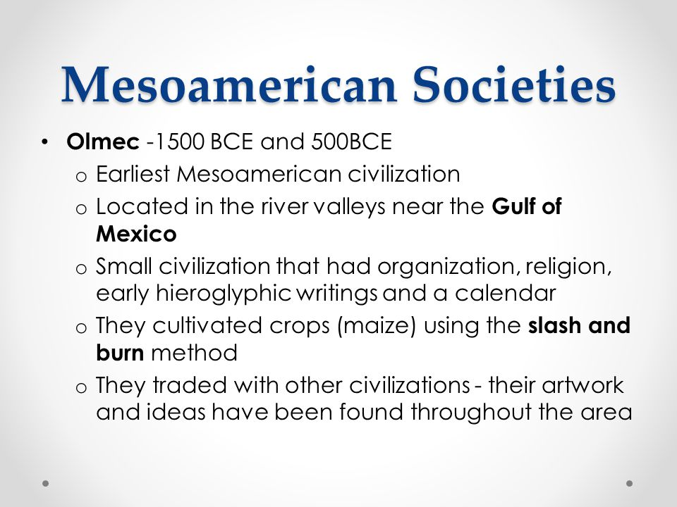 Mesoamerican Societies