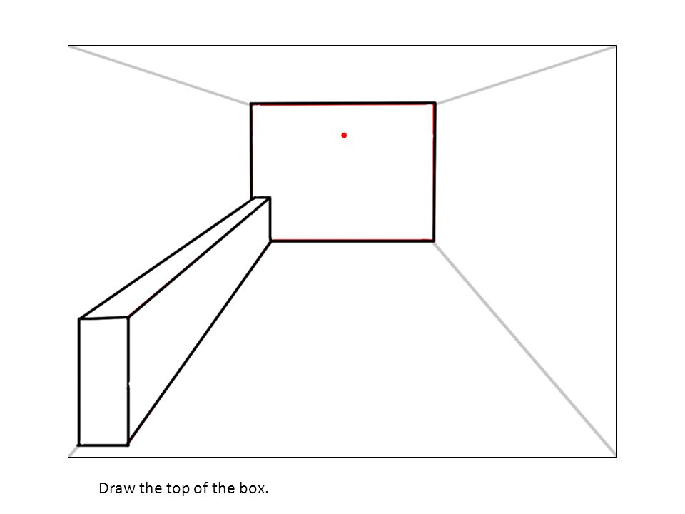 Draw the top of the box.