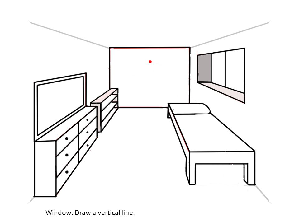Window: Draw a vertical line.