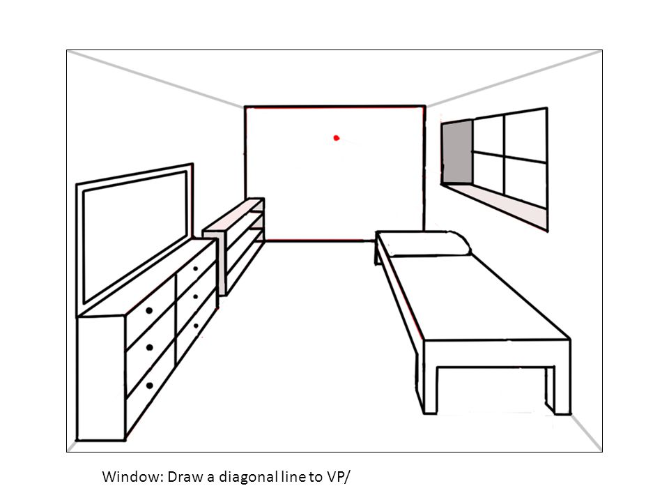 Window: Draw a diagonal line to VP/