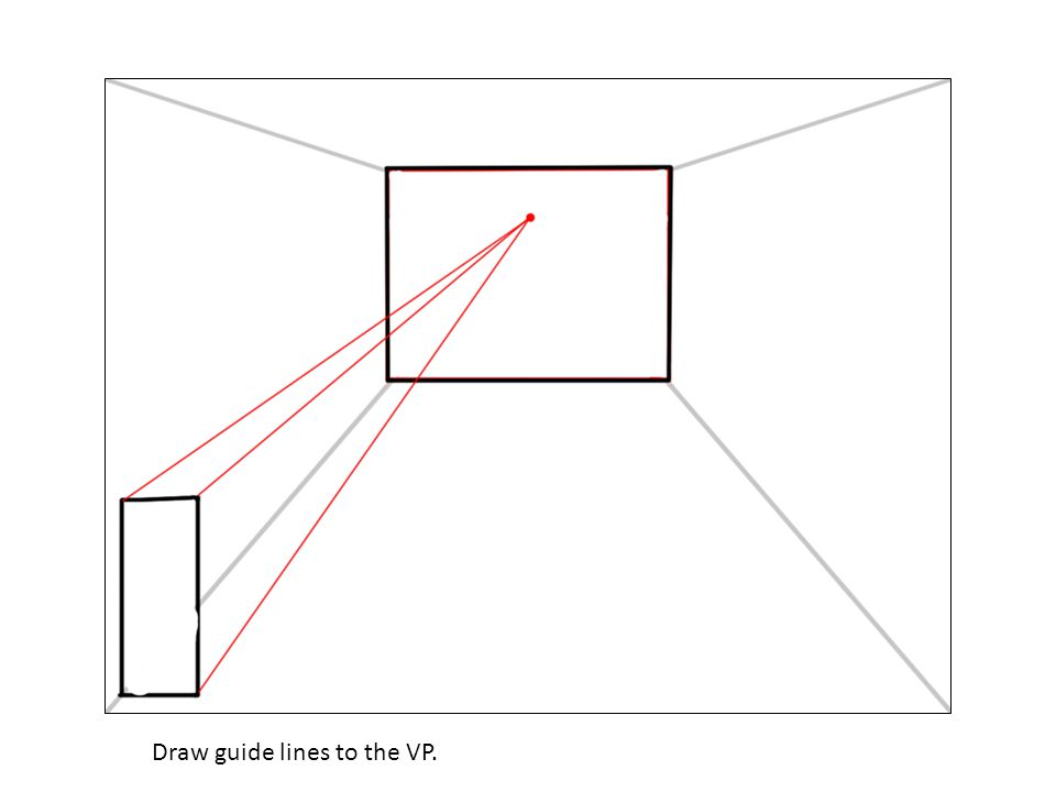 Draw guide lines to the VP.