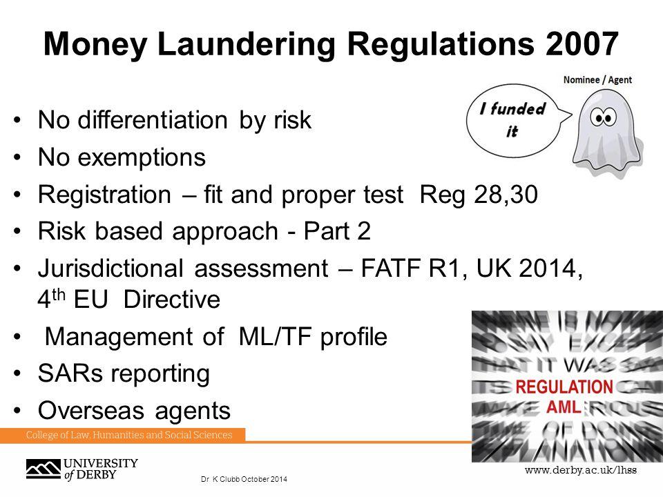 Money Laundering Regulations 2007