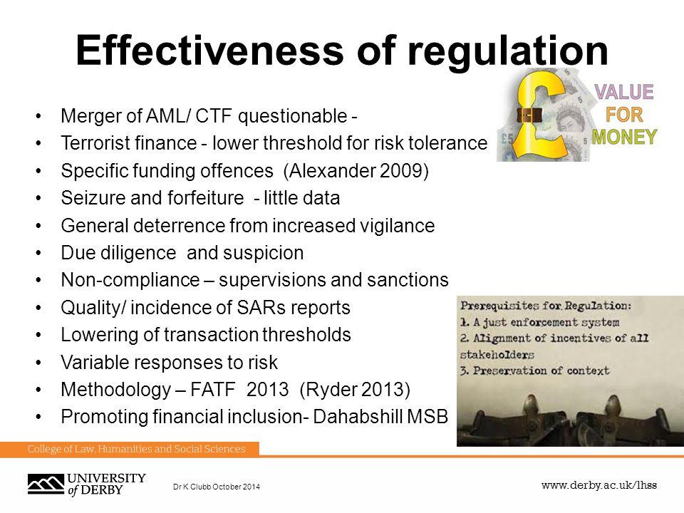 Effectiveness of regulation