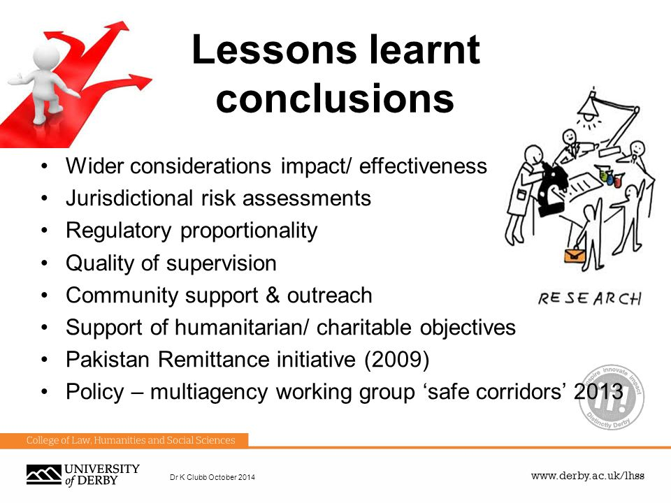 Lessons learnt conclusions