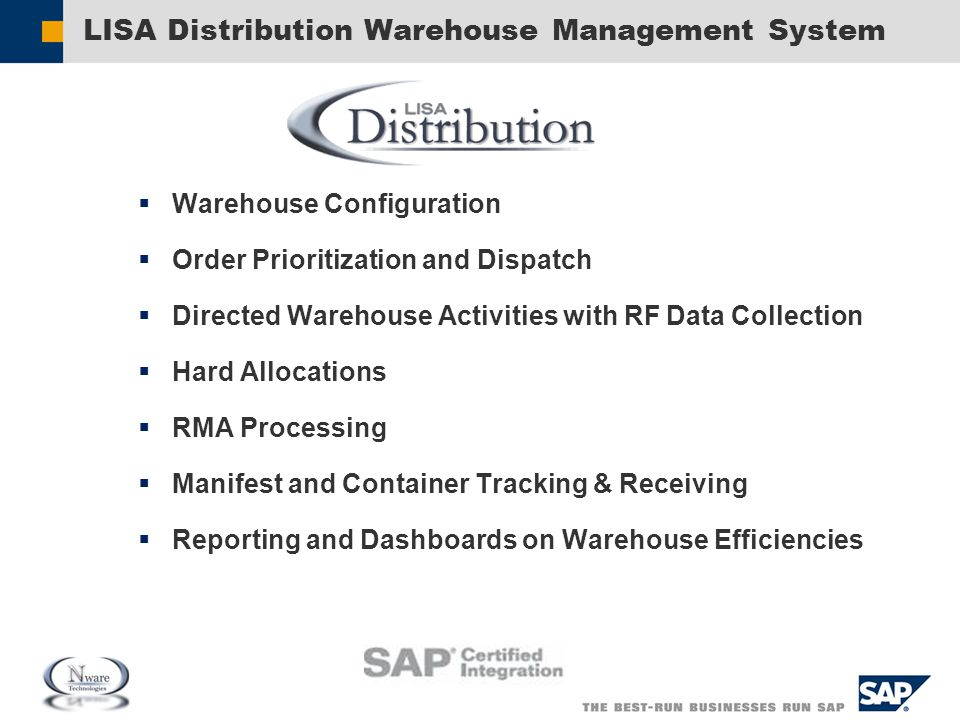 LISA Distribution Warehouse Management System