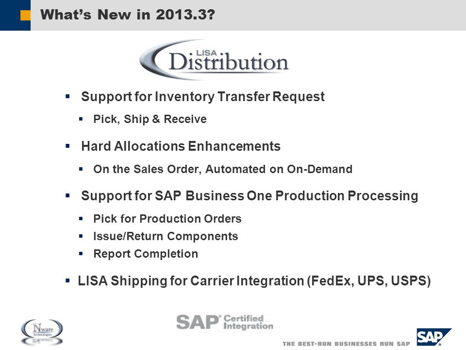 What's New in 2013.3 Support for Inventory Transfer Request