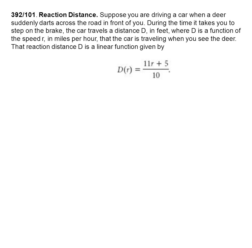 392/101. Reaction Distance.