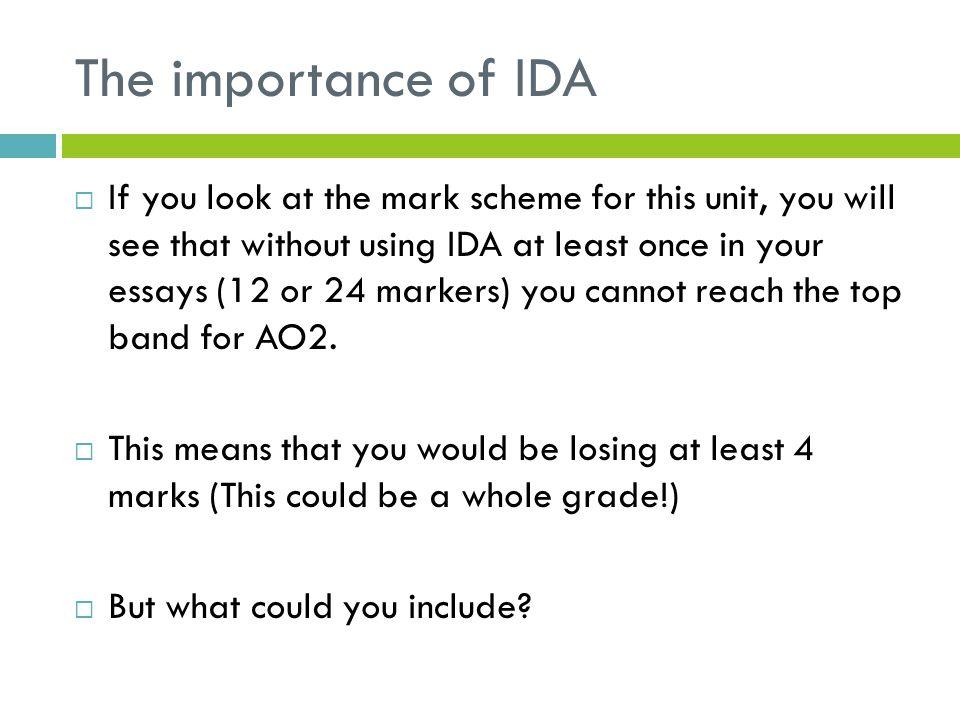 The importance of IDA