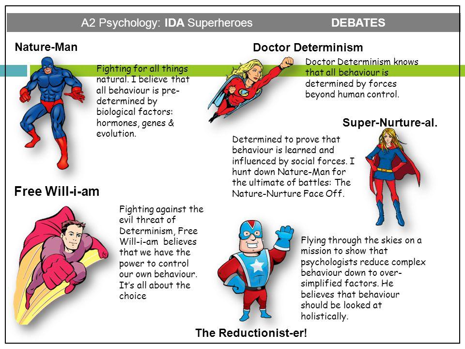 A2 Psychology: IDA Superheroes DEBATES