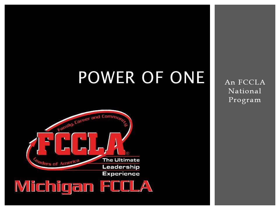 An FCCLA National Program