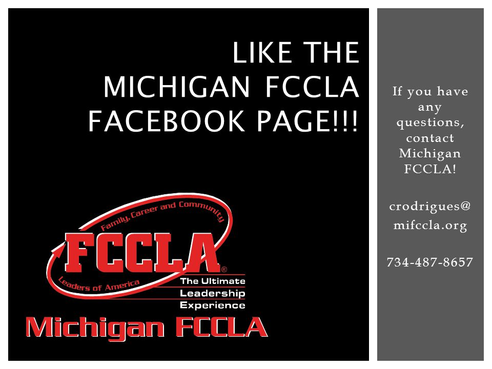 Like the Michigan fccla facebook page!!!