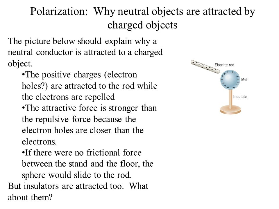Polarization: Why neutral objects are attracted by charged objects