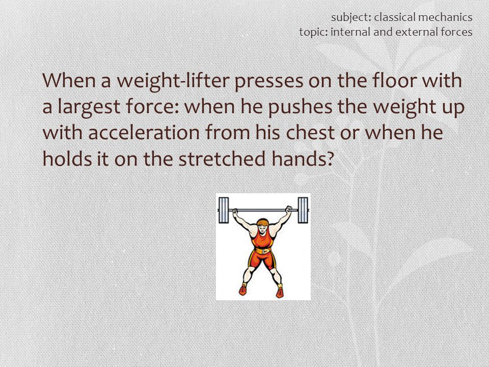 subject: classical mechanics