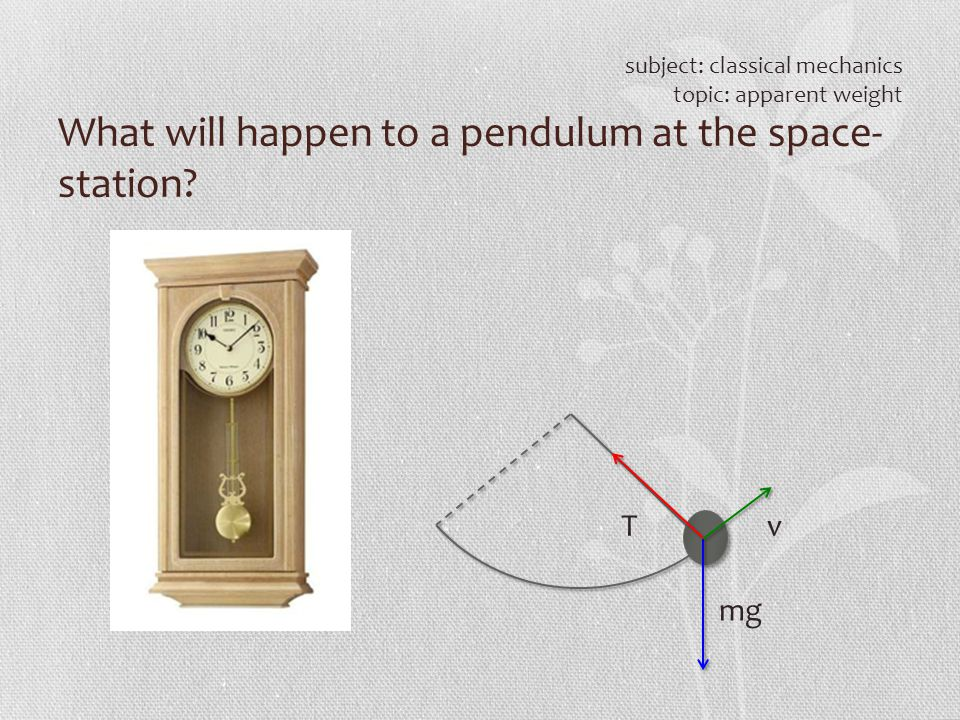 What will happen to a pendulum at the space- station