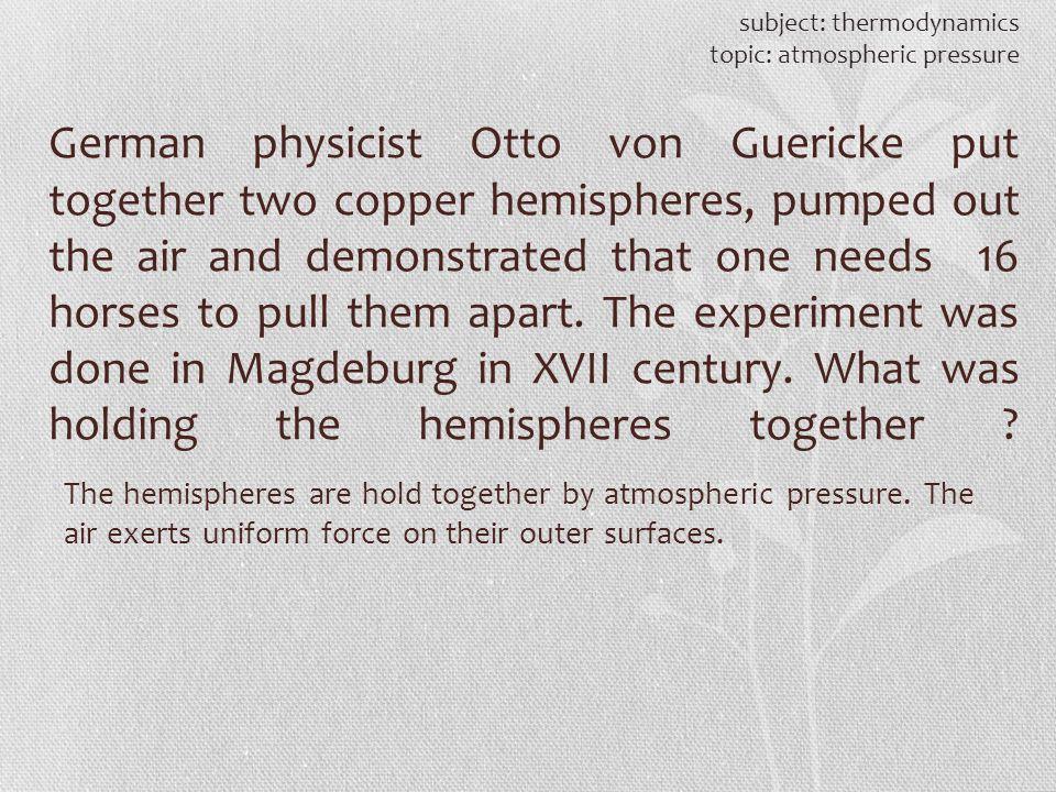 subject: thermodynamics