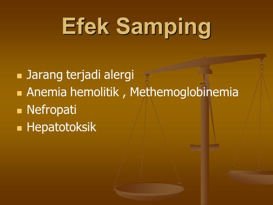 Efek Samping Jarang terjadi alergi