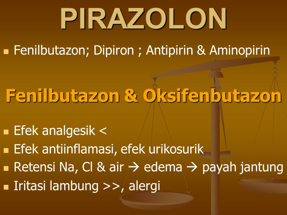 Fenilbutazon & Oksifenbutazon