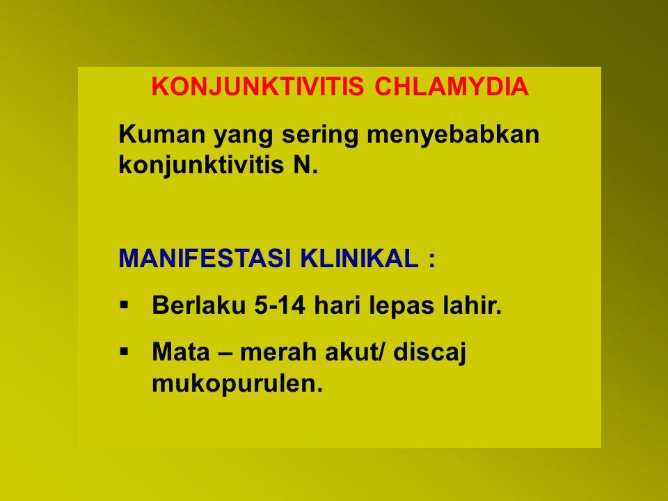 KONJUNKTIVITIS CHLAMYDIA