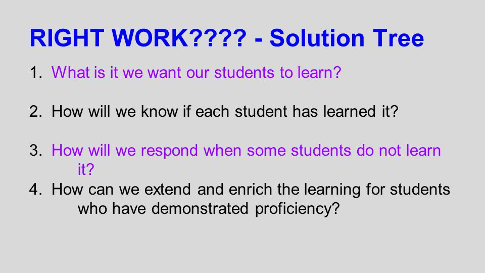 RIGHT WORK - Solution Tree