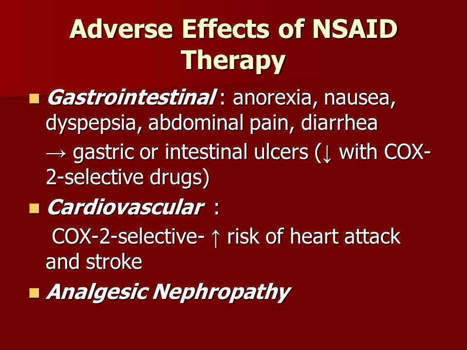 Adverse Effects of NSAID Therapy
