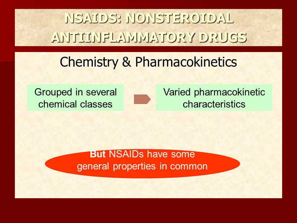 NSAIDS: NONSTEROIDAL ANTIINFLAMMATORY DRUGS