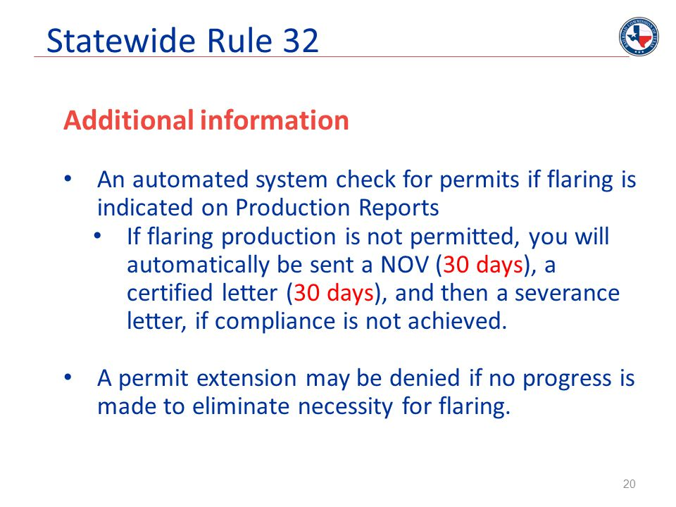 Statewide Rule 32 Additional information