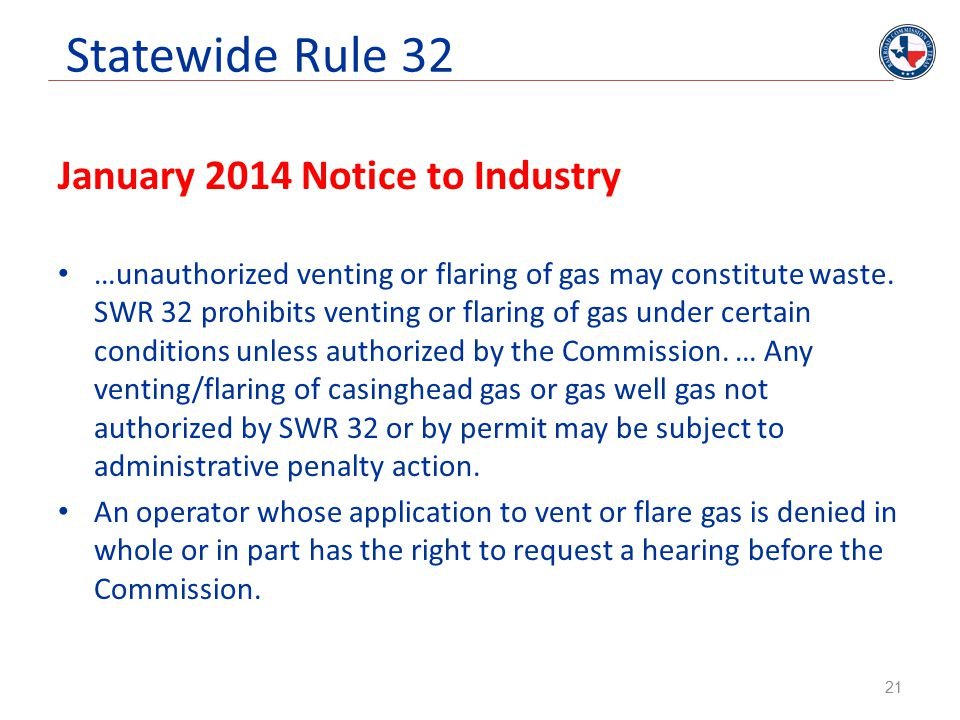Statewide Rule 32 January 2014 Notice to Industry