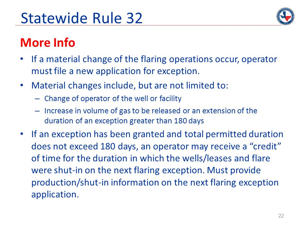 Statewide Rule 32 More Info