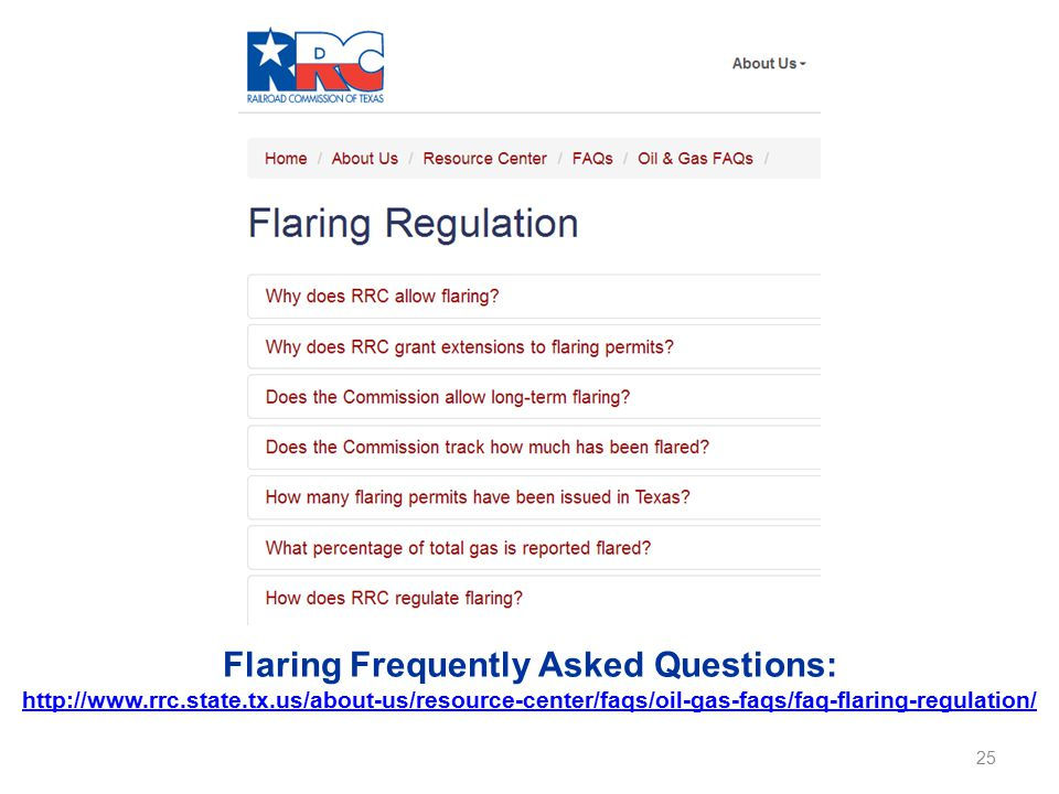 Flaring Frequently Asked Questions: