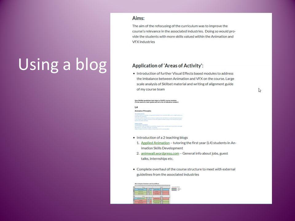 Using a blog