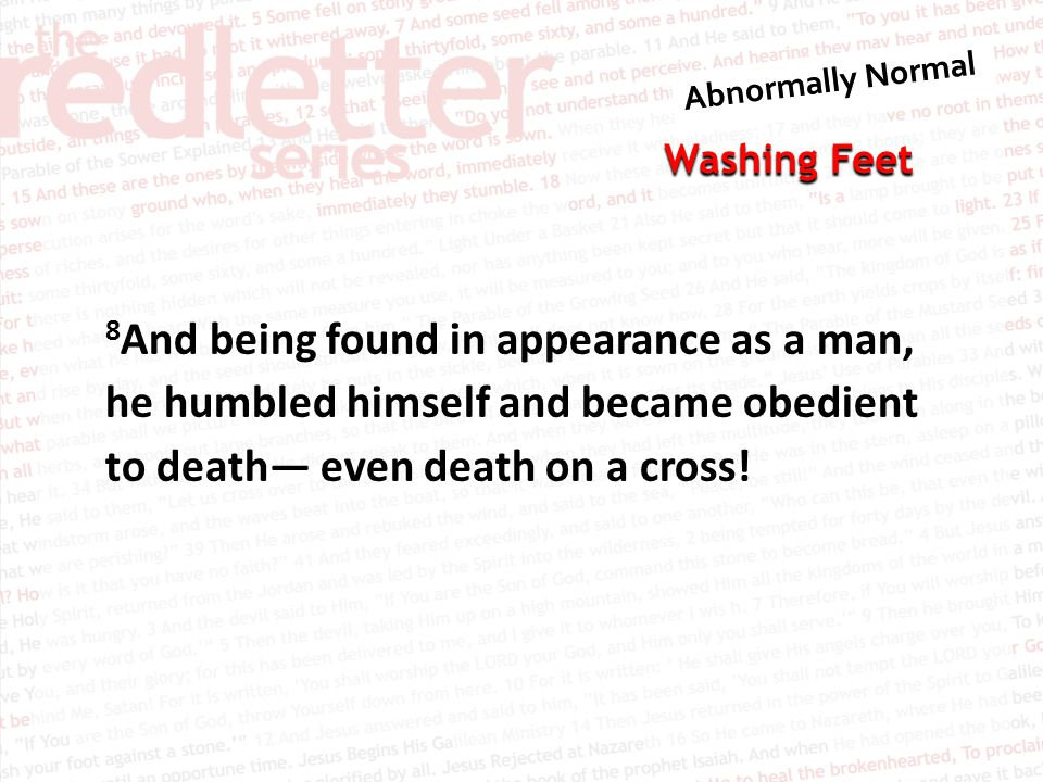 8And being found in appearance as a man, he humbled himself and became obedient to death— even death on a cross!