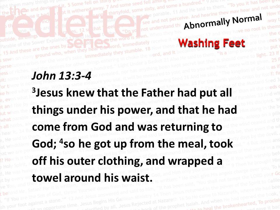 John 13:3-4