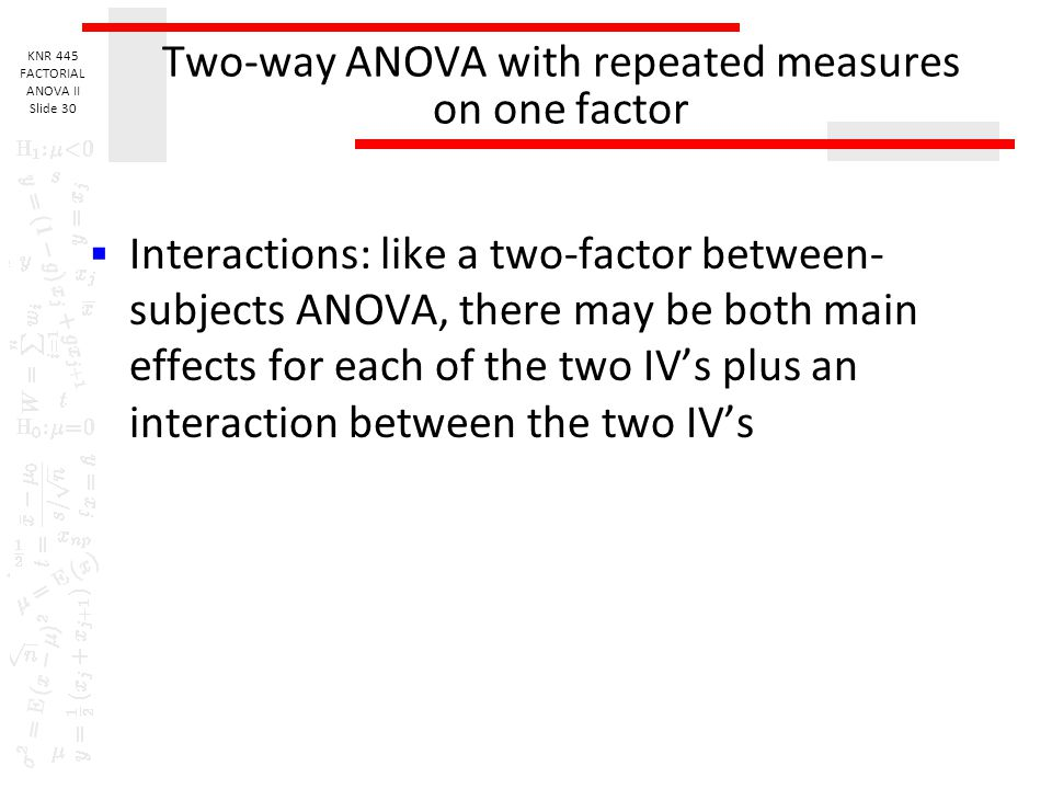 Two-way ANOVA with repeated measures on one factor