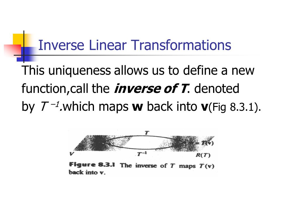 Inverse Linear Transformations