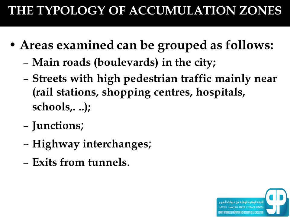 THE TYPOLOGY OF ACCUMULATION ZONES