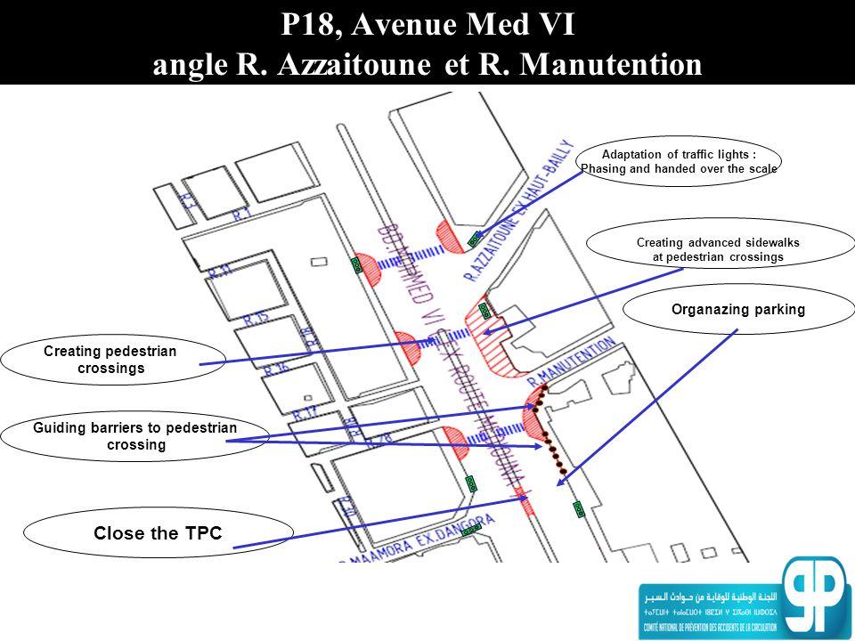 P18, Avenue Med VI angle R. Azzaitoune et R. Manutention