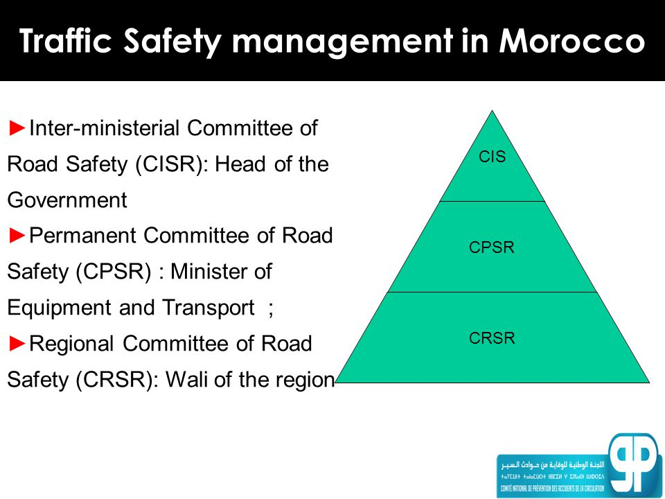 Traffic Safety management in Morocco