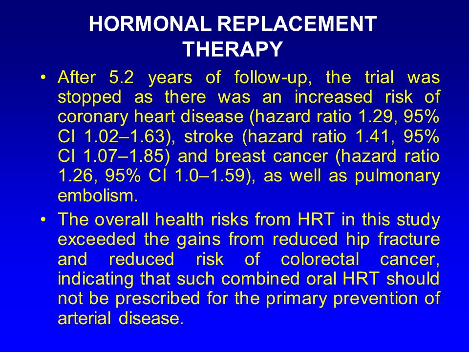 HORMONAL REPLACEMENT THERAPY