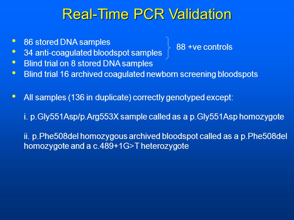 Real-Time PCR Validation