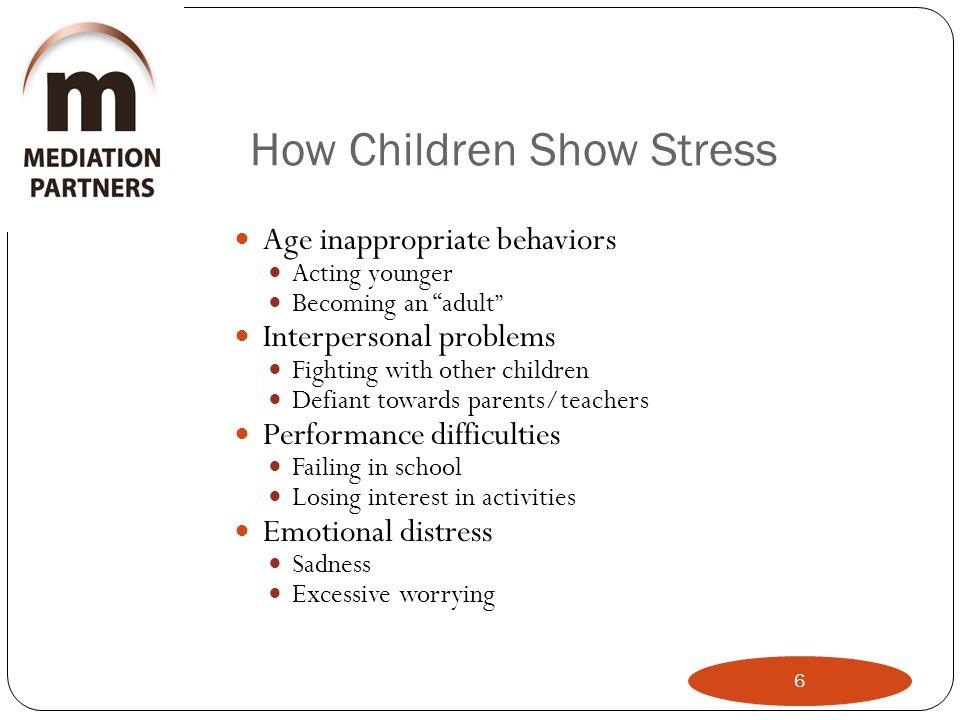 How Children Show Stress
