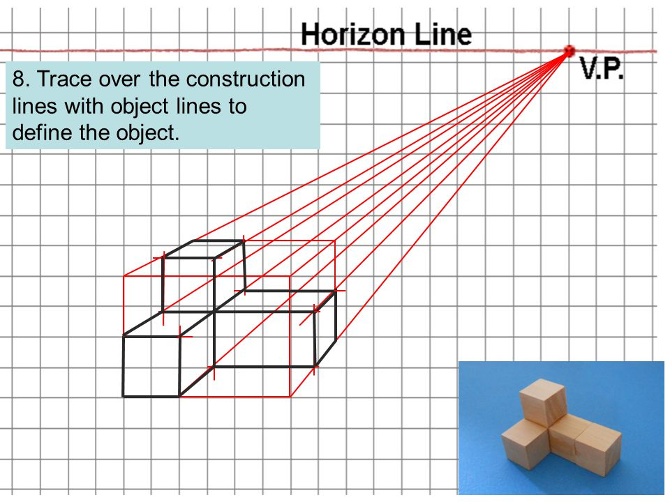 PLTW 8. Trace over the construction lines with object lines to define the object.