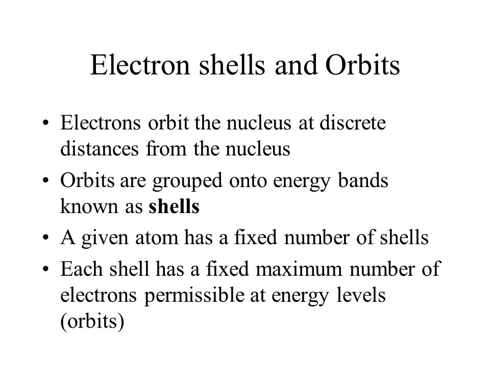 Electron shells and Orbits