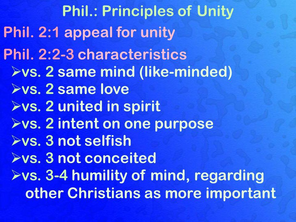 Phil.: Principles of Unity