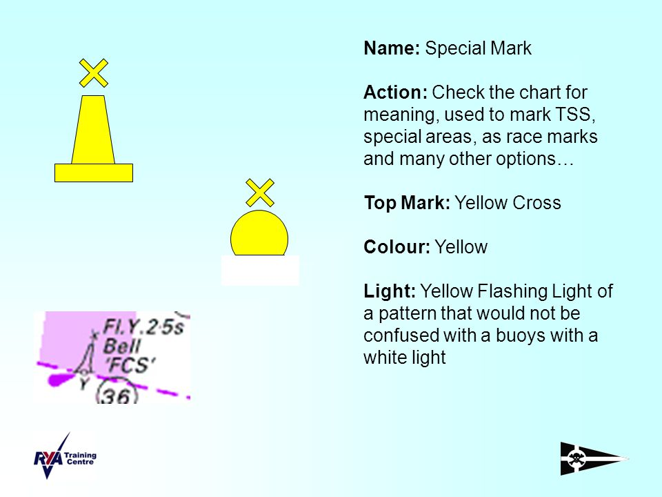 Name: Special Mark Action: Check the chart for meaning, used to mark TSS, special areas, as race marks and many other options…