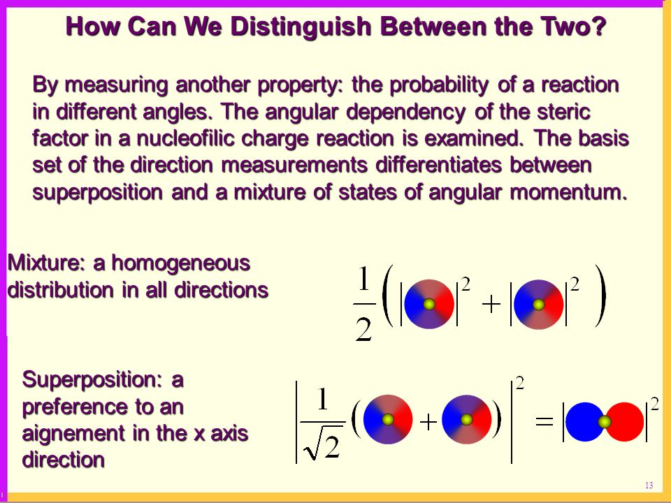 How Can We Distinguish Between the Two
