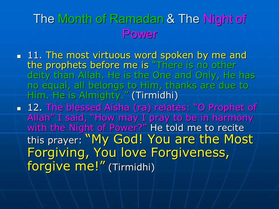The Month of Ramadan & The Night of Power