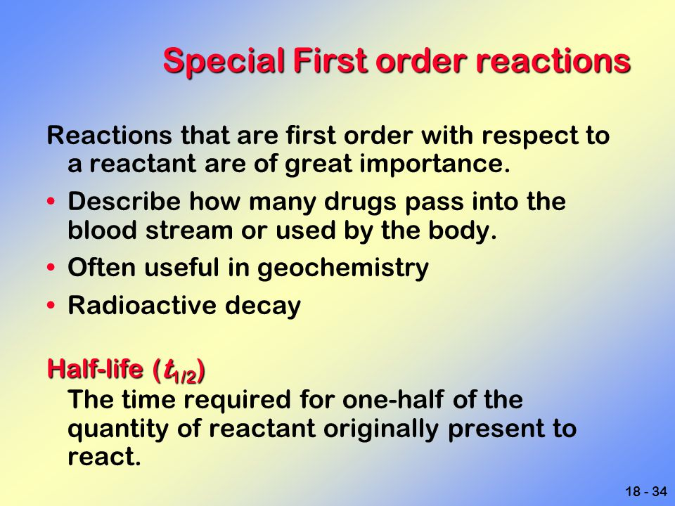 Special First order reactions