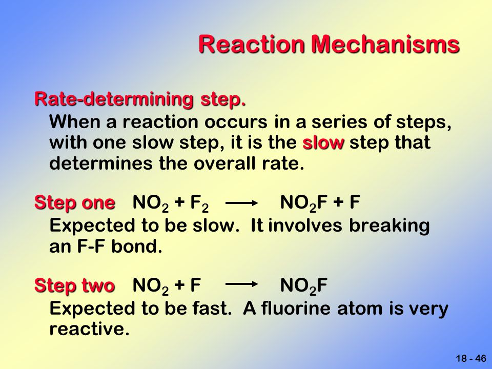 Reaction Mechanisms Rate-determining step.