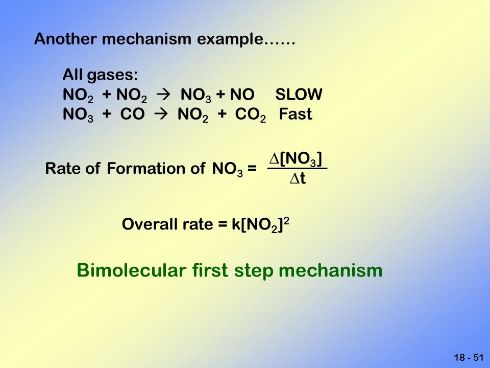 Bimolecular first step mechanism